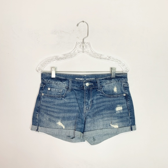 Old Navy Pants - Old Navy boyfriend denim shorts distressed size 4